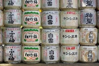 Sake barrel at Kamigamo-Jinja-S